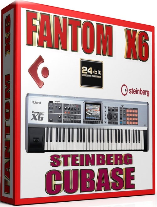 Product picture ROLAND FANTOM X6 SAMPLES STEINBERG CUBASE FXP 57GB *24-BIT*