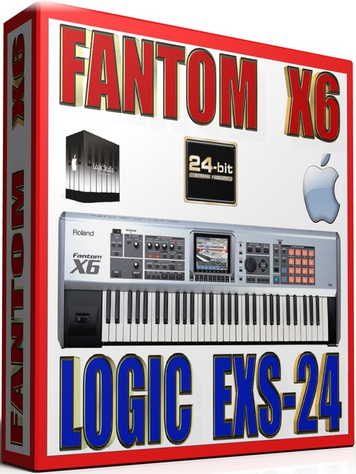 Product picture FANTOM X6 SAMPLES APPLE LOGIC PRO-TOOLS EXS-24 57GB 24-BIT