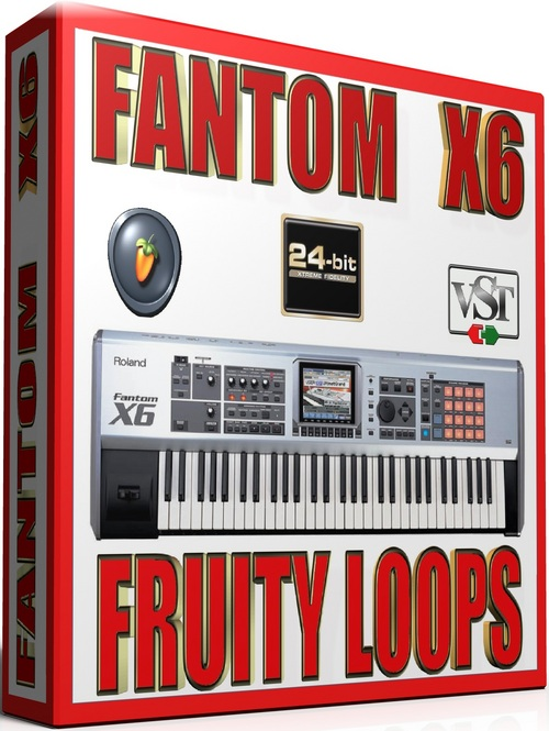 Product picture ROLAND FANTOM X6 Samples for FRUITY LOOPS 57 GB 24-BIT
